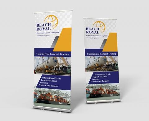 طراحی بنر شرکت Beach Royal