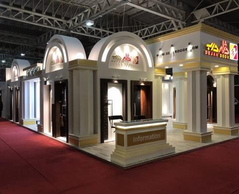 طراحی غرفه نمایشگاه شرکت دژار درب
