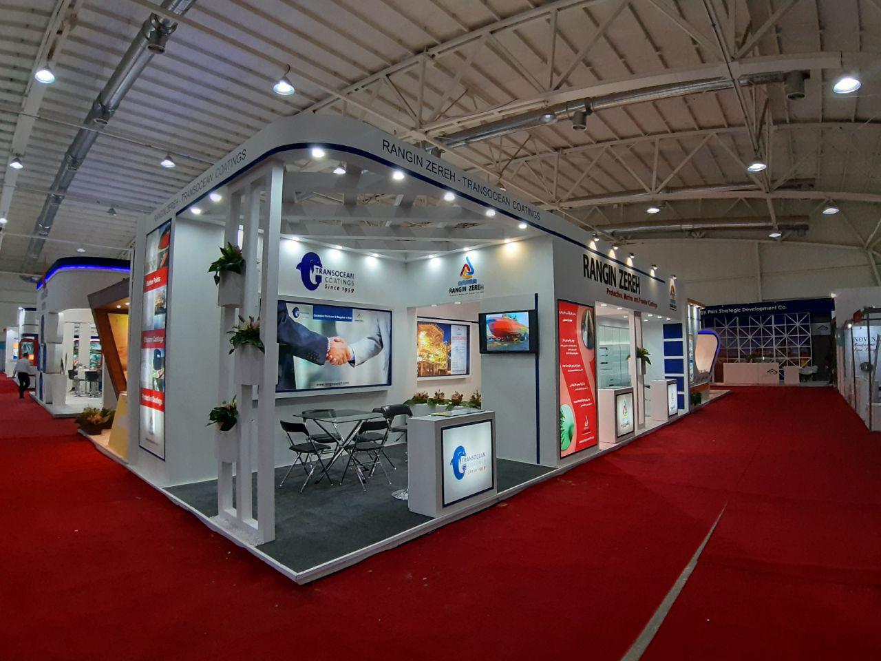 طراحی و ساخت غرفه شرکت رنگین زره