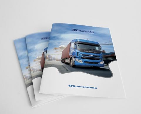 طراحی فولدر شرکت کاسپین خودرو